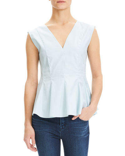 aa1e4baa58273 Quick Look. Theory · Perfect Cotton Sleeveless Peplum Top