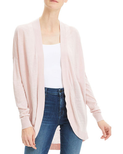 Sag Harbor Open-Front Waterfall Cardigan