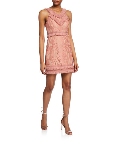 Kinsley Paisley Lace Sleeveless Dress