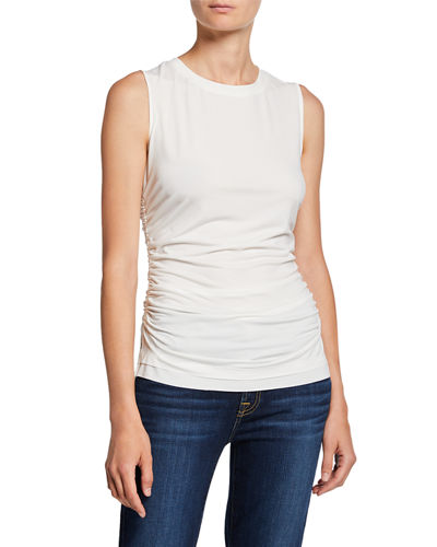 Eden Sleeveless Ruched Top