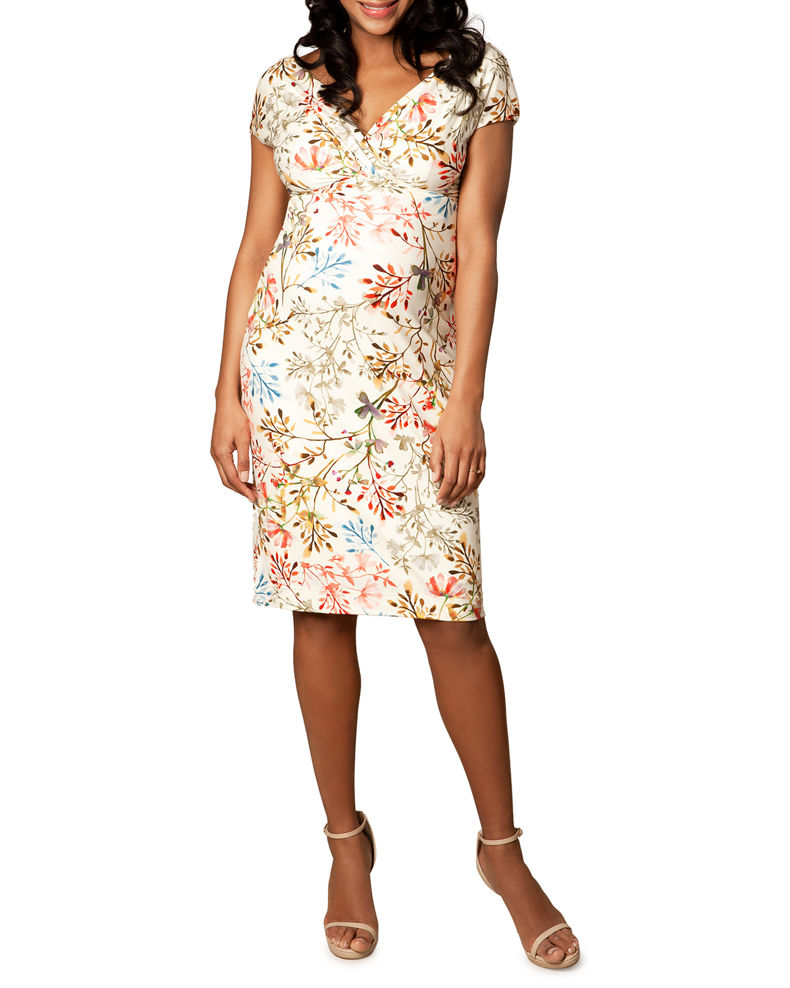 Tiffany Rose Maternity Floral-Print Cap-Sleeve Shift Dress