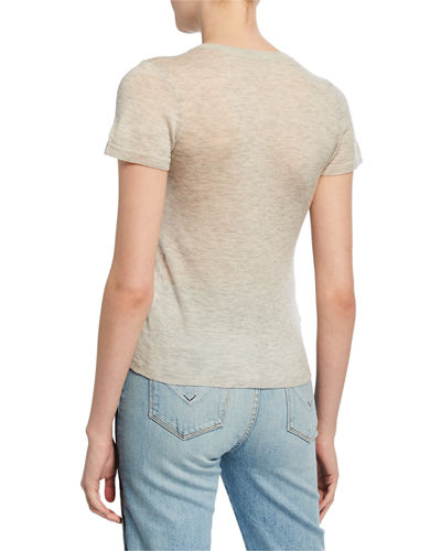 Vince Crewneck Short-Sleeve Sweater Tee
