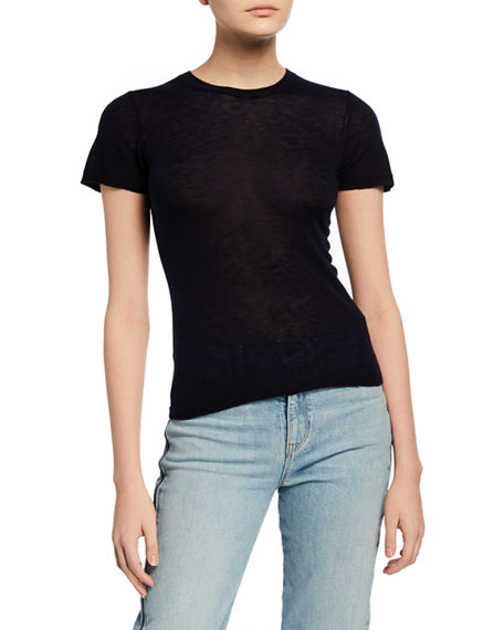 Image 1 of 2: Vince Crewneck Short-Sleeve Sweater Tee