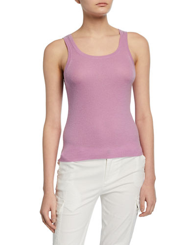 Fine Gauge Scoop-Neck Cashmere Tank