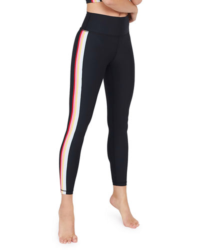 High Waist 7/8 Side Stripe Leggings