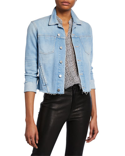 Janelle Slim Raw-Edge Jacket