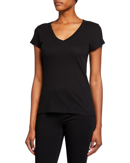Image 2 of 3: L'Agence Becca V-Neck Short-Sleeve Tee