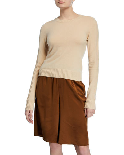 Runner Crewneck Long-Sleeve Cashmere Rib Sweater