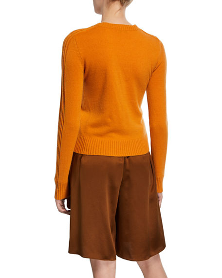 Image 2 of 2: Vince Runner Crewneck Long-Sleeve Cashmere Rib Sweater