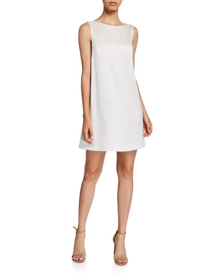 Alice + Olivia Lita Sleeveless Cowl-Back Mini Shift Dress