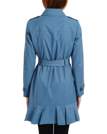 various design fashionablestyle rich and magnificent belted peplum trench coat