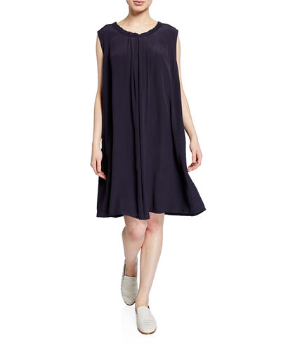 Harper Sleeveless Tunic Dress w/ Cutout-Back