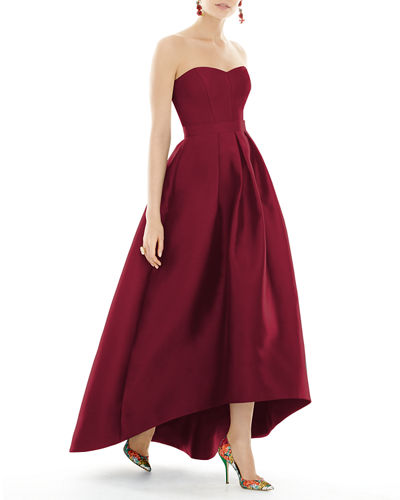 Quick Look. Alfred Sung · Strapless Sweetheart High-Low Sateen Gown 344349f1b