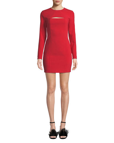 Keller Long-Sleeve Mini Dress