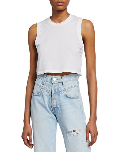 The 70s Cropped Muscle Tank