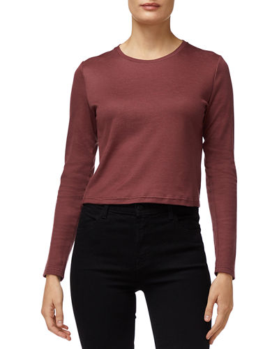 Carolina Long-Sleeve Crop Tee