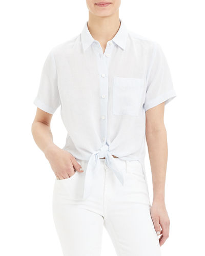 cdd36251 Quick Look. Theory · Hekanina Button-Down Tie-Front ...