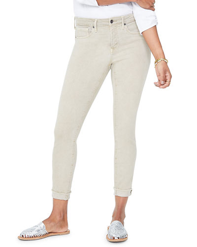 Ami Raw-Edge Cuffed Ankle Skinny Jeans