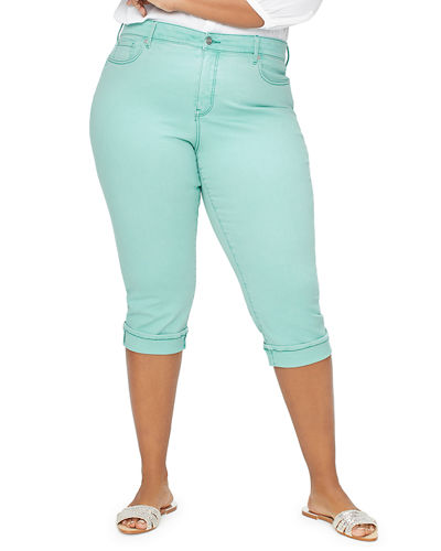Plus Size Marilyn Cropped Jeans w/ Cuff