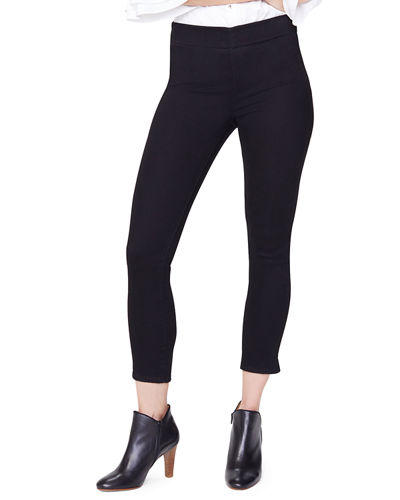 Pull-On Skinny Ankle Jeans