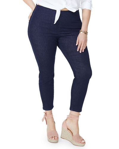 Plus Size Pull-On Skinny Ankle Jeans