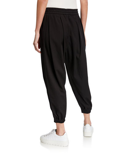 DUBGEE by Whoopi Mid-Rise Drawstring Cropped Jogger Pants