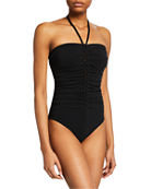 Karla Colletto Joana Bandeau One-Piece Swimsuit with Shelf
