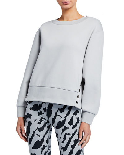 Hardy Pullover Sweatshirt with Button Details
