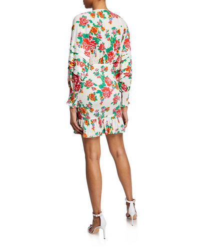 Rhode Anya Floral Smocked Flounce Dress