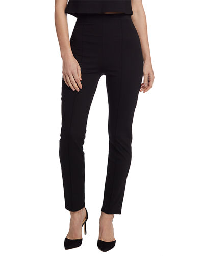 High-Waist Slim Leg Ponte Pants