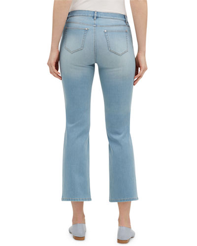 Lafayette 148 New York Mercer 11 Oz Prestige Denim Cropped Flare Jeans