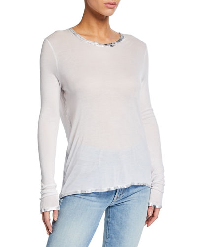 Willy Silver Foil Trim Long-Sleeve T-Shirt