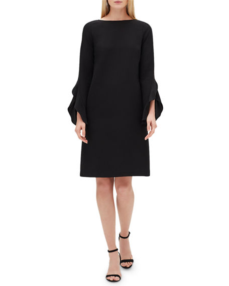 Lafayette 148 Dresses EMORY FINESSE CREPE SHIFT DRESS