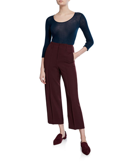Image 3 of 3: Vince Straight-Leg Crop Pants