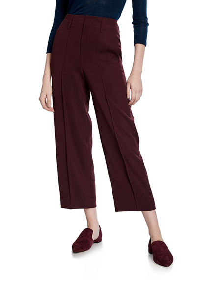 Image 1 of 3: Vince Straight-Leg Crop Pants