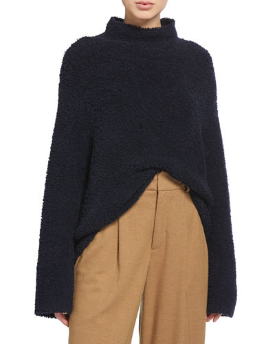 Teddy Funnel-Neck Sweater