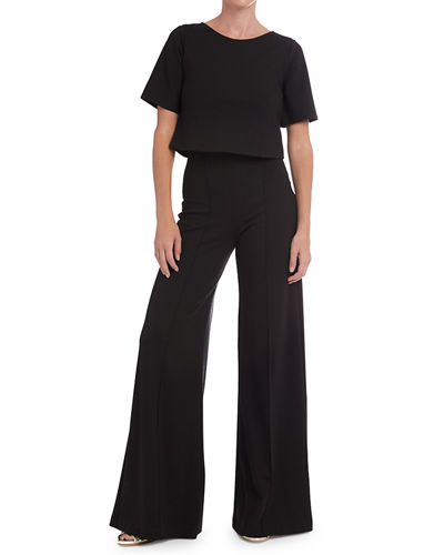 Ripley Rader High-Rise Wide-Leg Ponte Pants