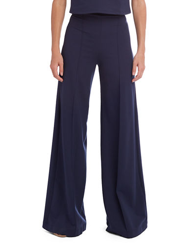 High-Rise Wide-Leg Ponte Pants