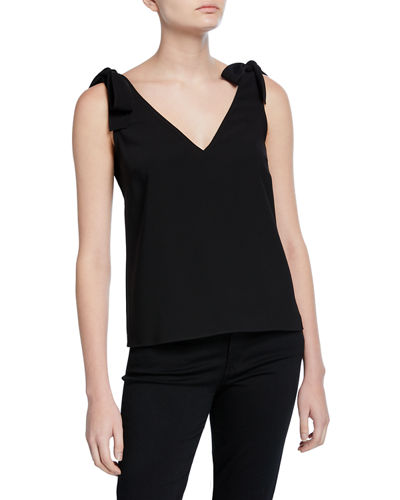 Josephina Shoulder-Tie V-Neck Top