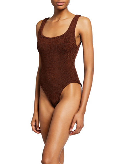 Hunza G CLASSIC SQUARE-NECK ONE-PIECE SWIMSUIT