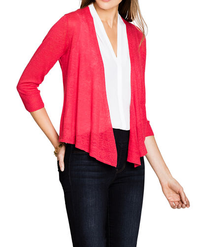 4-Way Open-Front Linen Cardigan