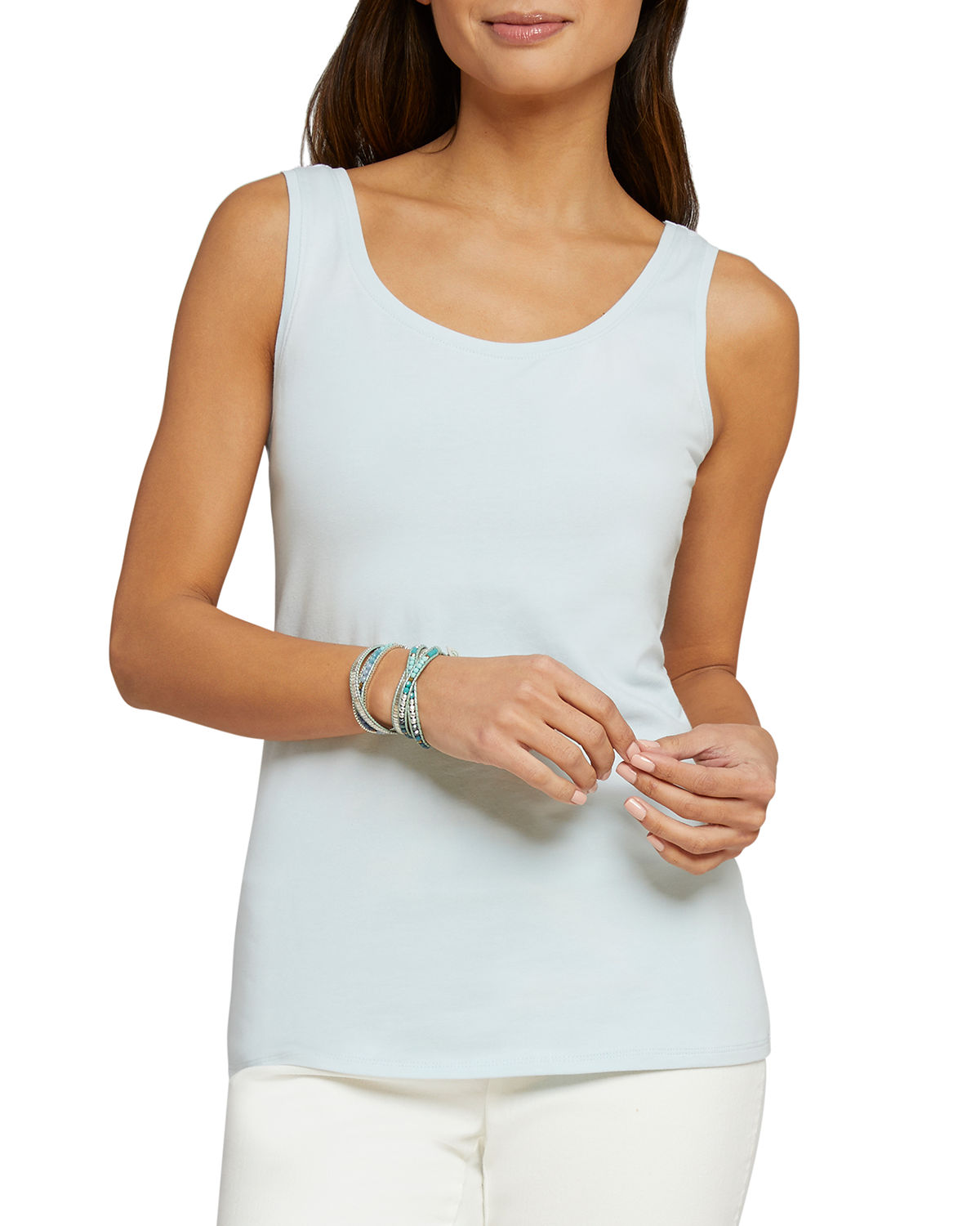 Nic+zoe Tops PERFECT SCOOP-NECK STRETCH-COTTON TANK