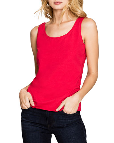 Perfect Scoop-Neck Stretch-Cotton Tank