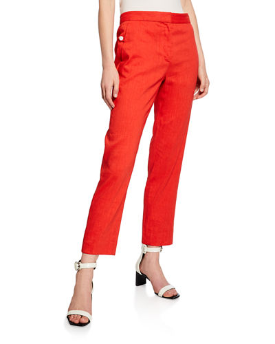 Poppy Tab-Front Pants