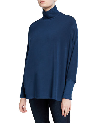 Long-Sleeve Cowl-Neck Tee