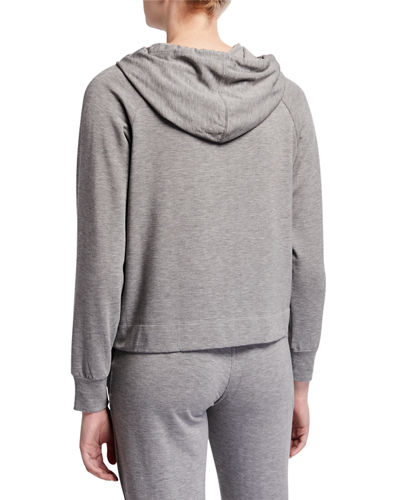 Majestic Paris for Neiman Marcus Pullover Drawstring Hoodie