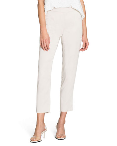 Sleek Pull-On Ankle Pants