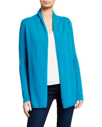 Cashmere Draped Long Sleeve Cardigan