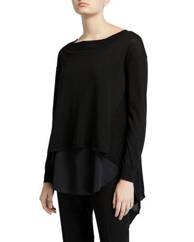 M Dasha Layered Long-Sleeve Top