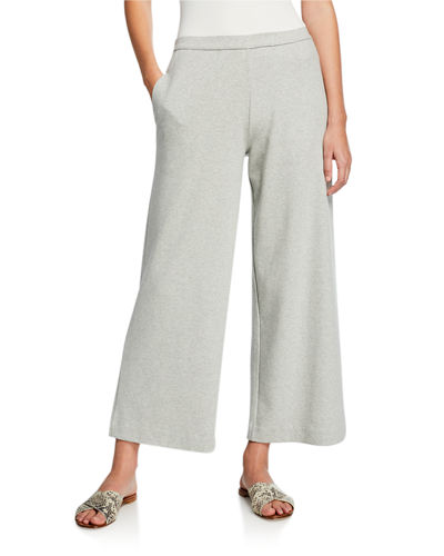 Wide-Leg Crop Pants with Pockets